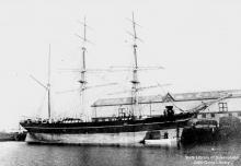 Image: Three masted wooden vessel