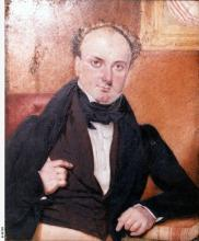 Image: painted portrait of man in nineteenth century dress